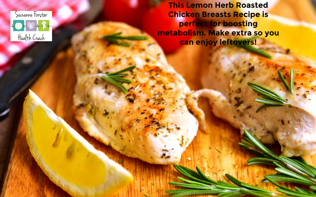 Roasted chicken with lemon, herbs and garlic