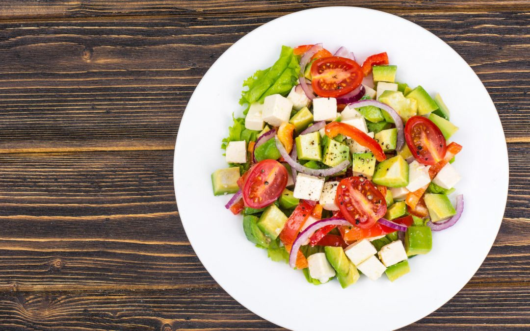 Tomato, Cucumber and Avocado Lunch Salad